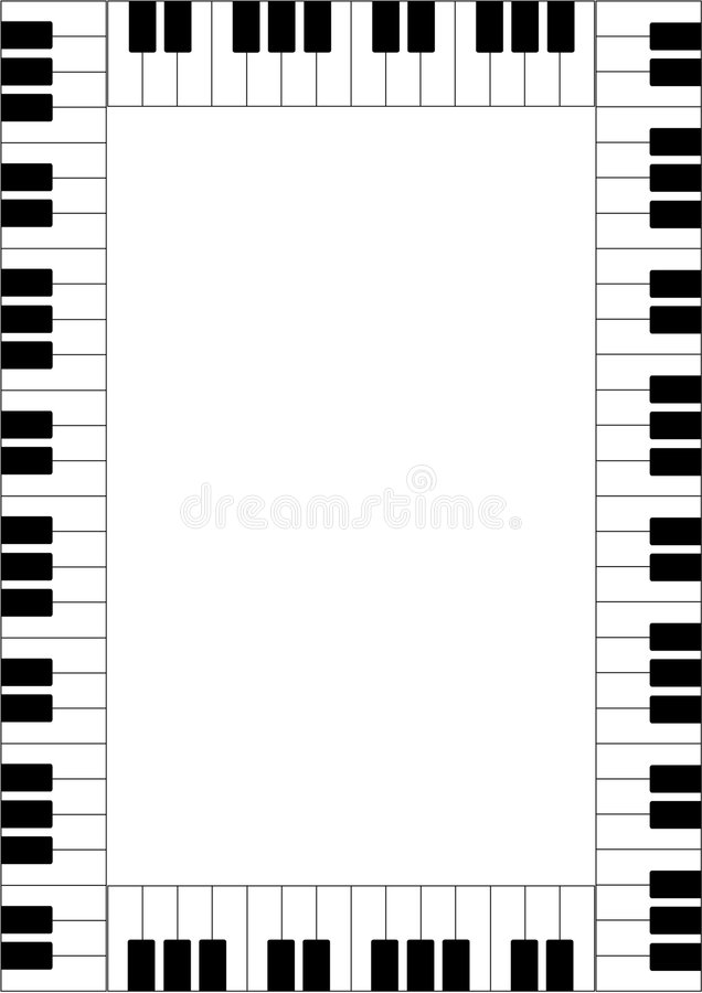 Piano frame royalty free illustration