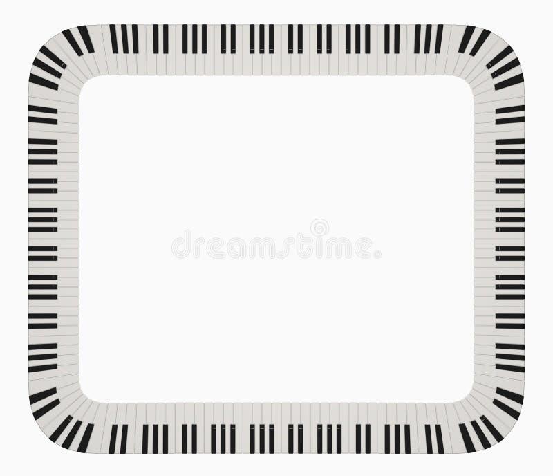 Download Piano frame stock illustration. Image of border, frame - 4995621