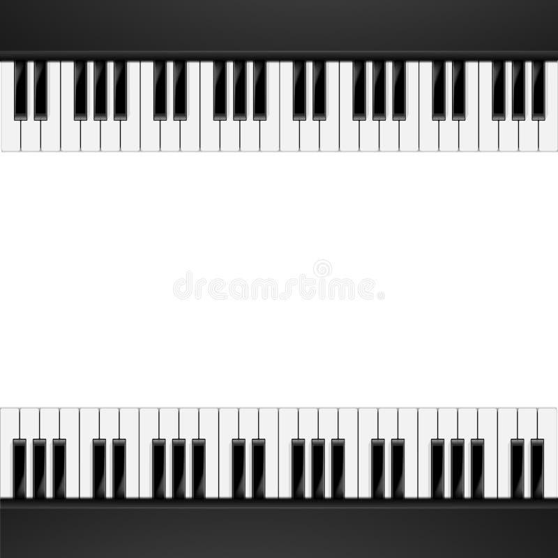 Piano Frame Background stock illustration