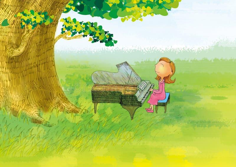 Piano Girl Royalty Free Stock Photography