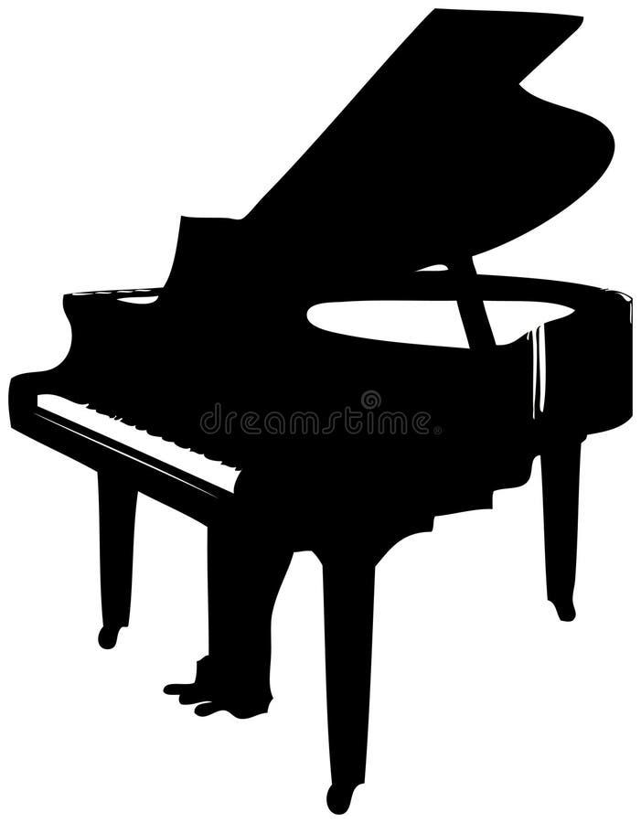 Piano grande ilustração stock