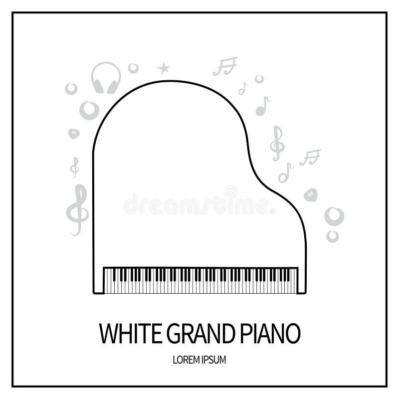 Piano grande branco ilustração royalty free