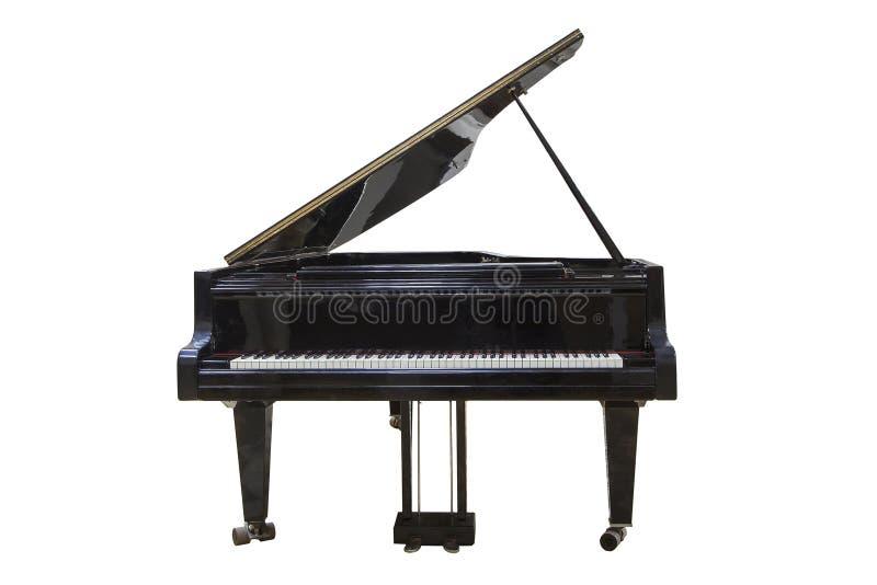 Piano grande preto foto de stock