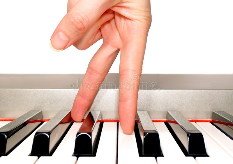 Download Piano hand stock image. Image of silver, walking, keyboard - 3783011