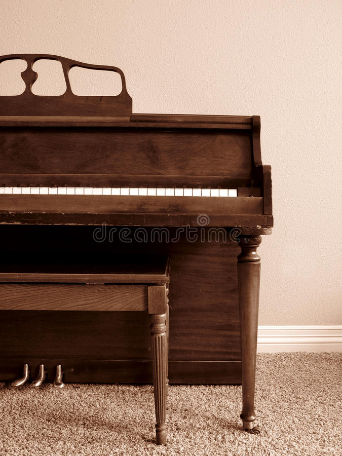 Piano in Home stock photos