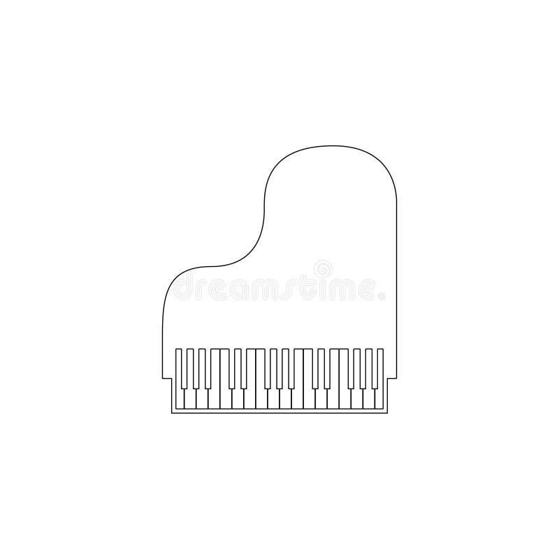 Piano Icono plano del vector ilustración del vector