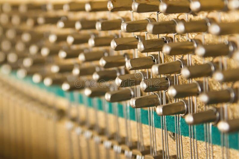 Piano inside stock image