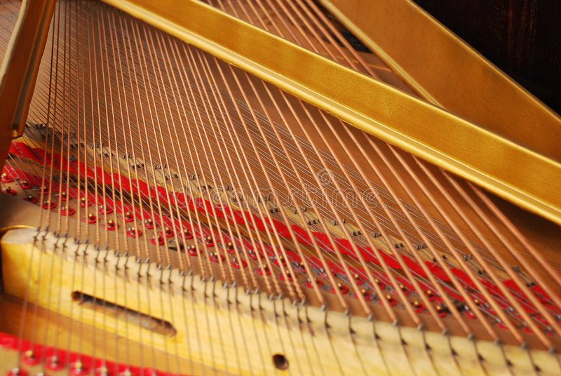 Piano inside royalty free stock photos