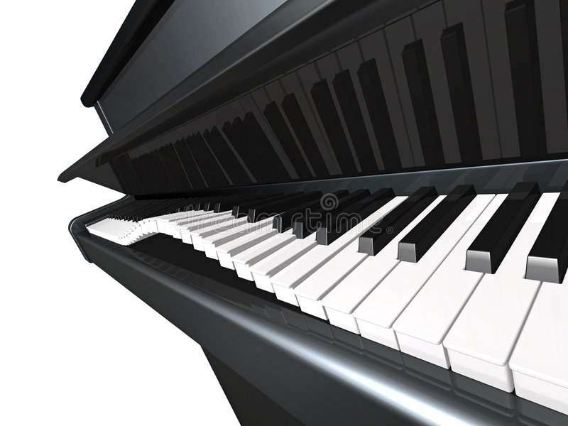 Piano juguetón stock de ilustración