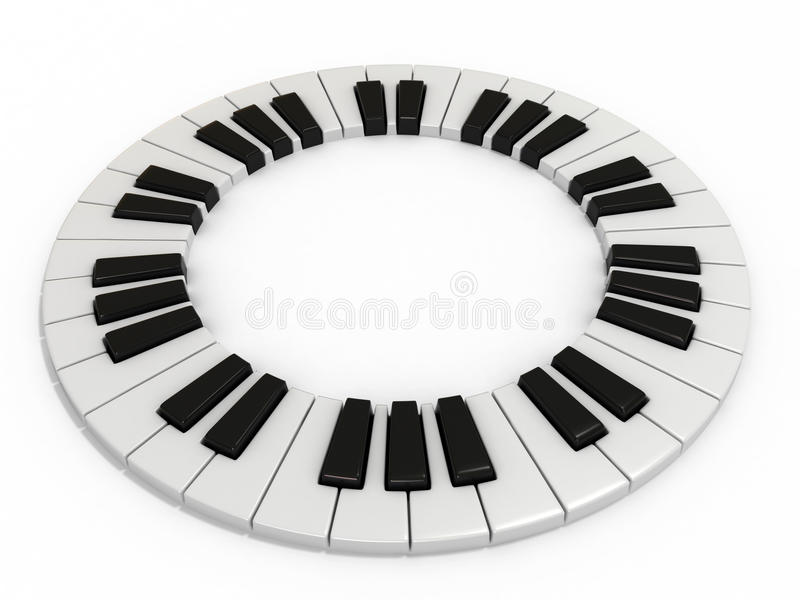 Piano key stock illustration