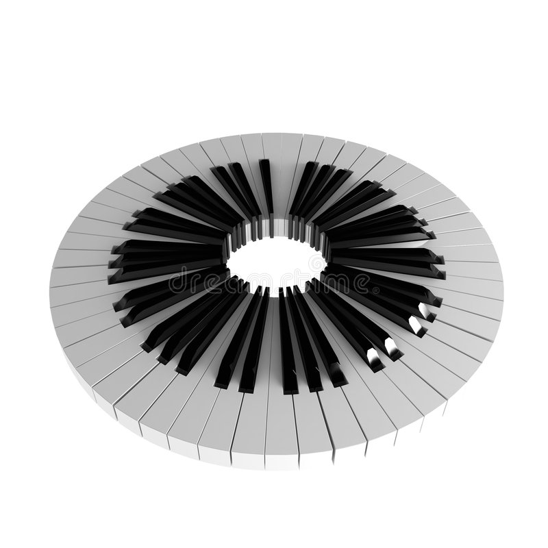 Piano Key Circle stock illustration