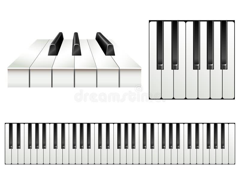 Piano key set royalty free illustration