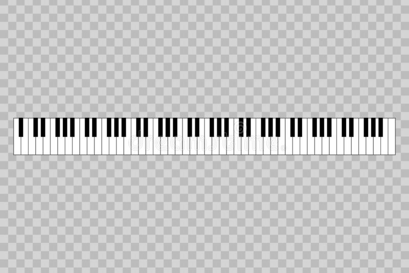 Piano with 88-key. Vector illustration royalty free illustration