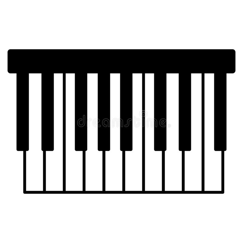 Piano keyboard, Hand drawn, Vector, Eps, Logo, Icon, silhouette Illustration by crafteroks for different uses. vector illustration