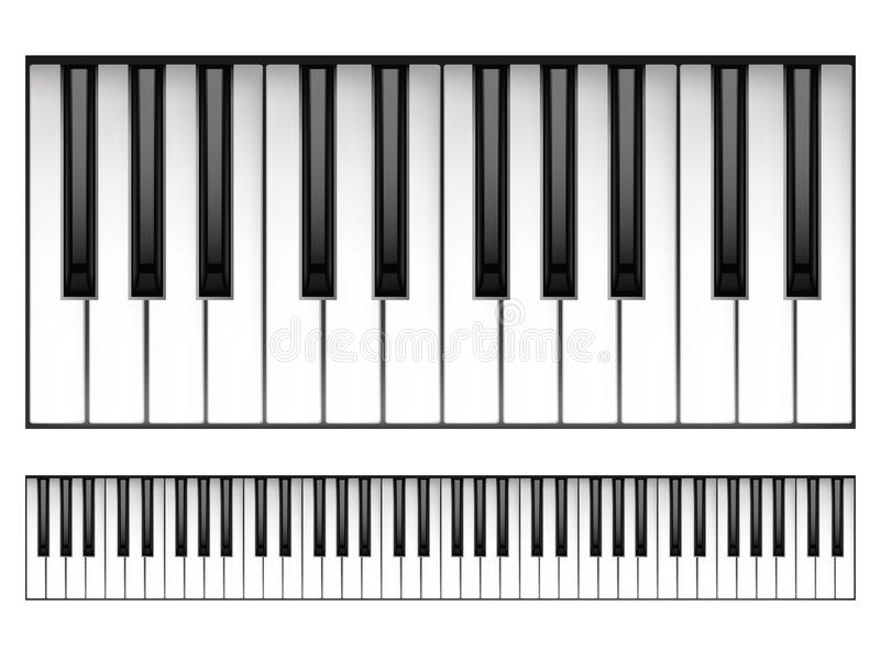 Piano Keyboard. Isolated on White Background. Vector stock illustration