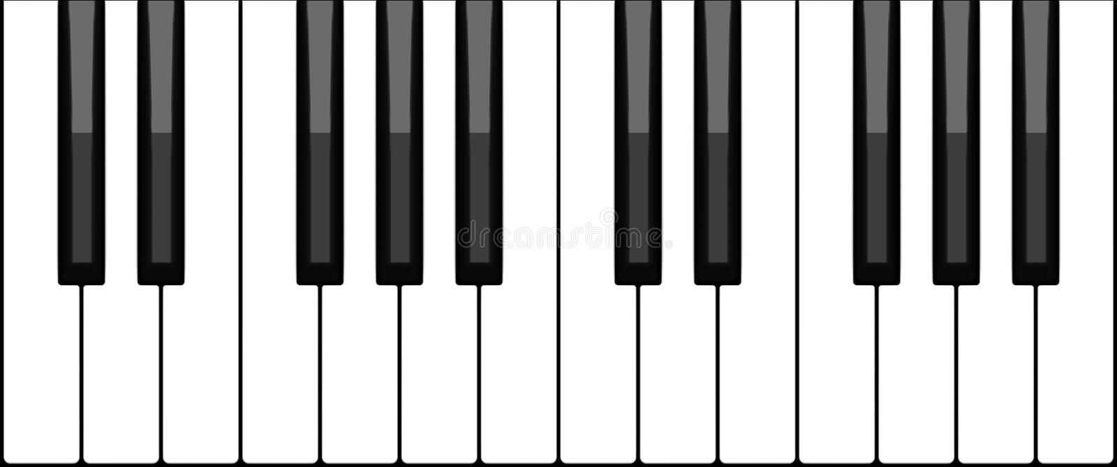 Download Piano keyboard stock vector. Image of concert, notes, white - 343050