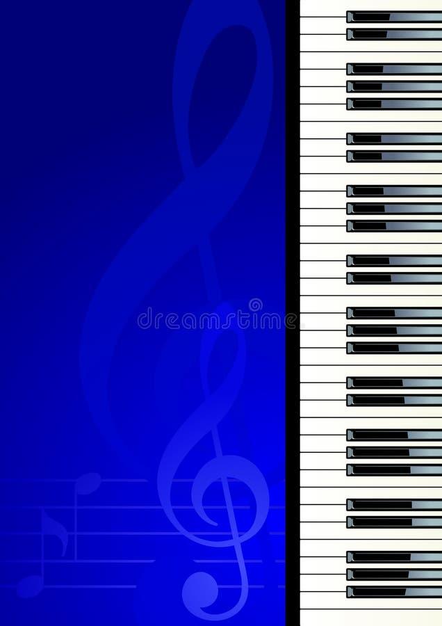 Piano keyboard. Piano on blue background, vector illustration stock illustration