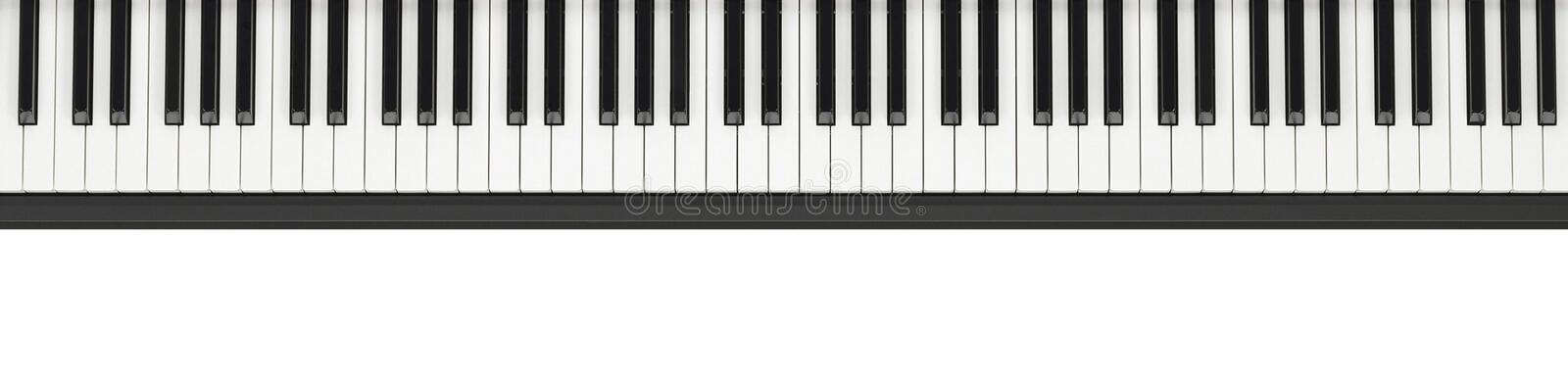 Piano keyboard background royalty free stock photography
