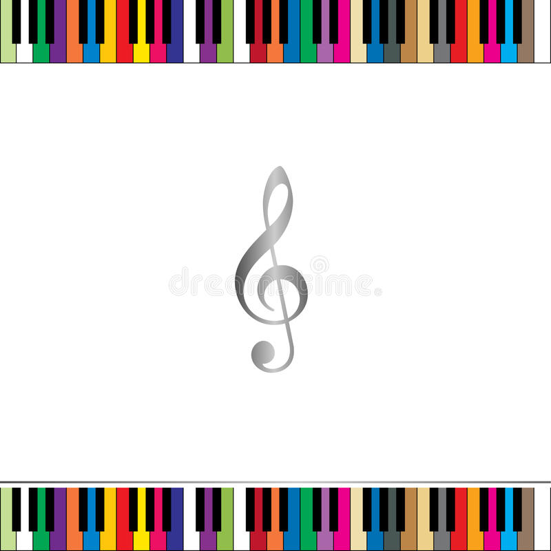 Piano keyboard border royalty free illustration