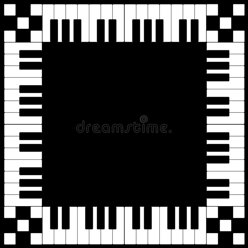 Piano Keyboard Frame royalty free illustration