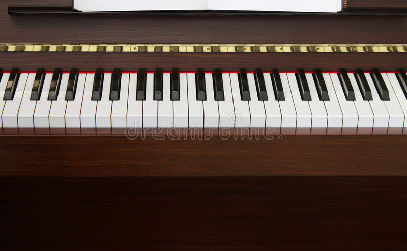 Download Piano keyboard front stock image. Image of audio, entertainment - 19806957