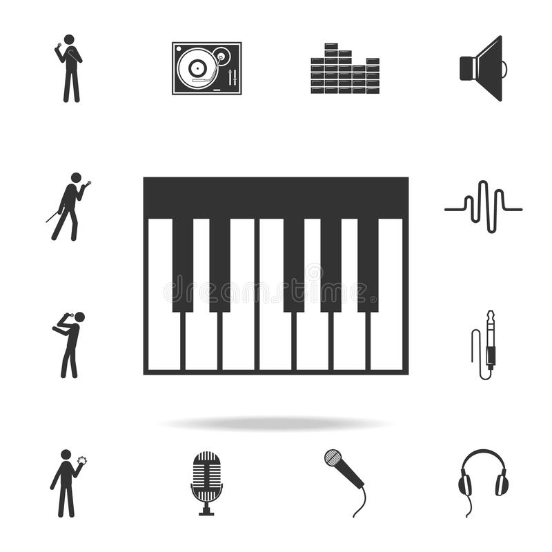Piano Keyboard Icon app. Detailed set of music icons. Premium quality graphic design. One of the collection icons for websites; we vector illustration