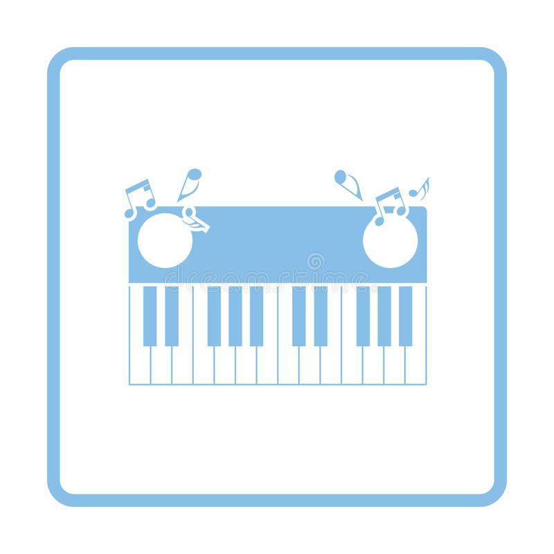Piano keyboard icon royalty free illustration