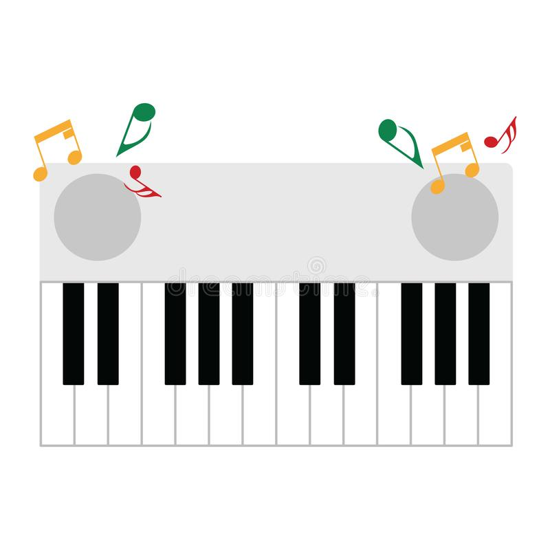 Piano keyboard icon. Flat color design. Vector illustration royalty free illustration