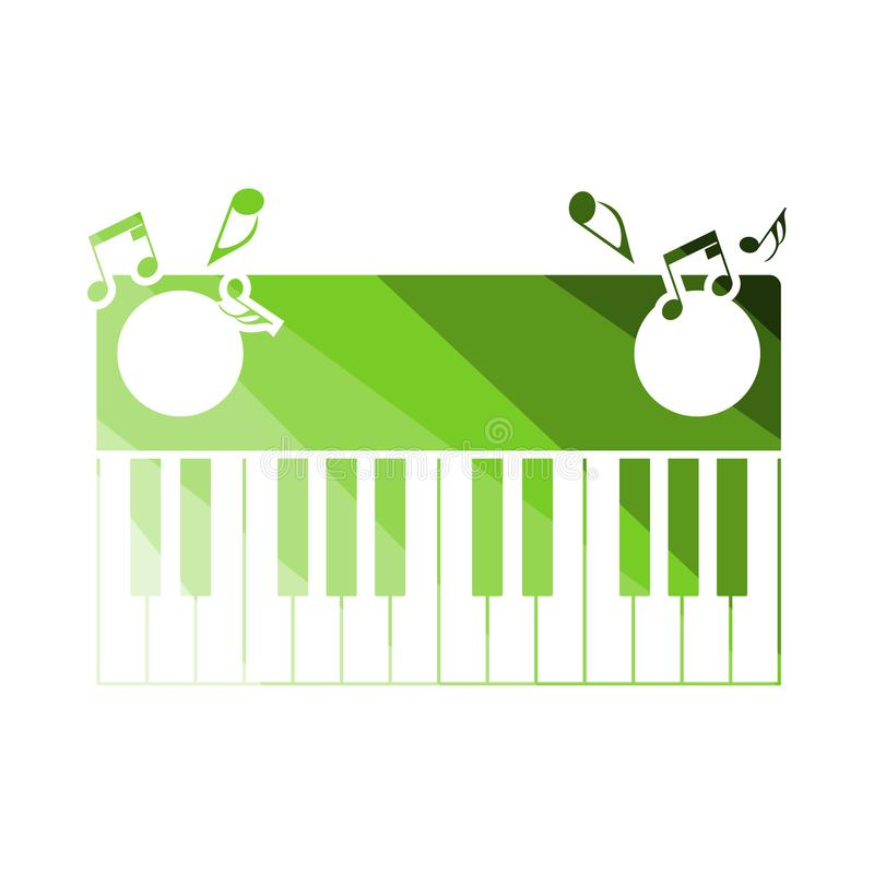 Piano Keyboard Icon. Flat Color Ladder Design. Vector Illustration royalty free illustration