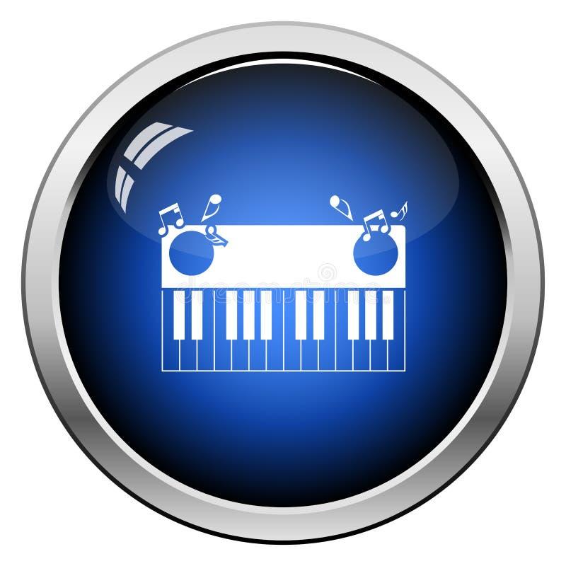 Piano Keyboard Icon. Glossy Button Design. Vector Illustration vector illustration