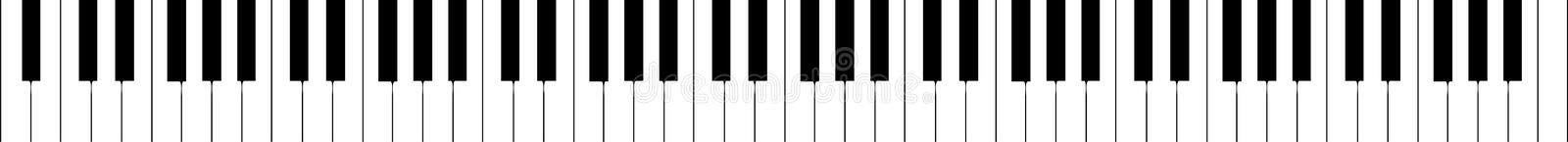 Piano keyboard - isolated vector illustration royalty free stock images