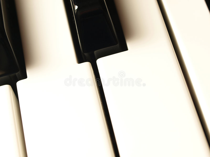 Piano Keyboard Keys Stock Photo