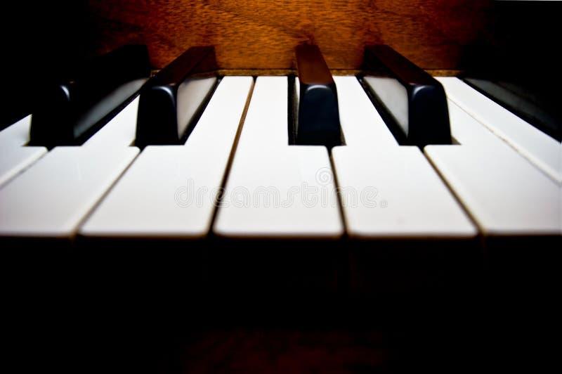 Piano Keyboard at Middle C royalty free stock photos