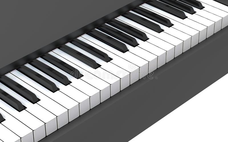 Piano keyboard. Music And Sound Concept royalty free illustration
