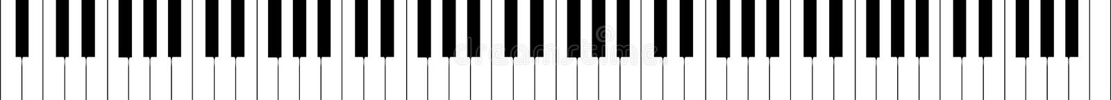 Piano keyboard (real extension) vector stock illustration