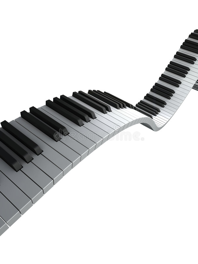 Download Piano keyboard render stock illustration. Image of synthesizer - 6350268