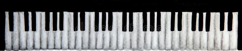Piano keyboard on white background royalty free stock photos