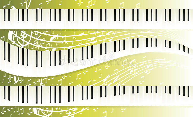 Download Piano keyboards stock vector. Illustration of rays, music - 12318199