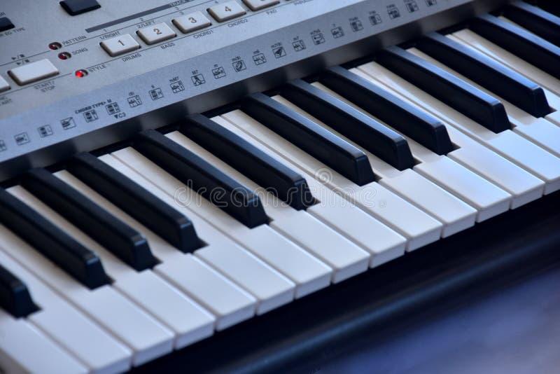 Piano keybord image.Fancy keybord.Flower on a piano keybord.Black and white keybord. Real zise royalty free stock images