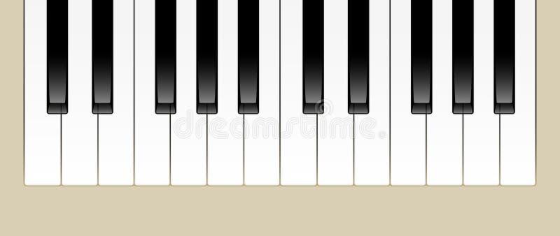 Piano Keys. Vector Illustration of Two Octaves of Piano Keys stock illustration