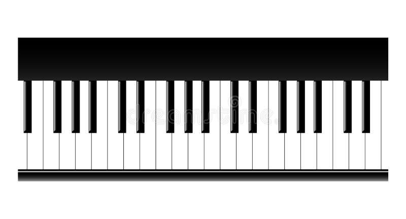 Piano keys. A illustration vector illustration