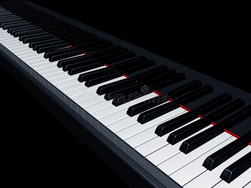 Piano keys. Illustration of a piano reflecting the keys royalty free illustration