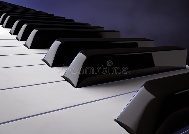 Download Piano keys stock illustration. Image of instrument, isolated - 25465926