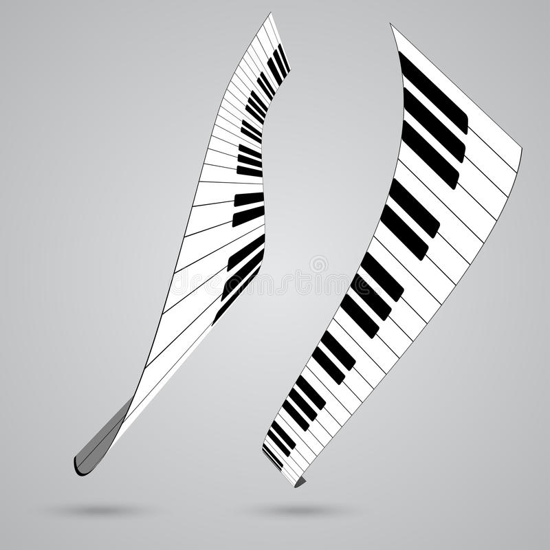 Piano keys. Vector illustration for design royalty free illustration