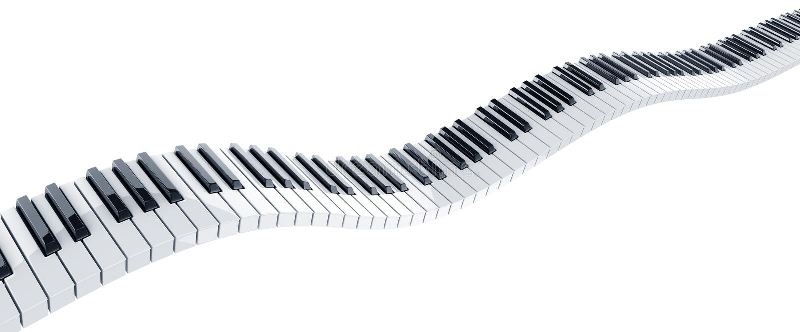 Piano keys vector illustration