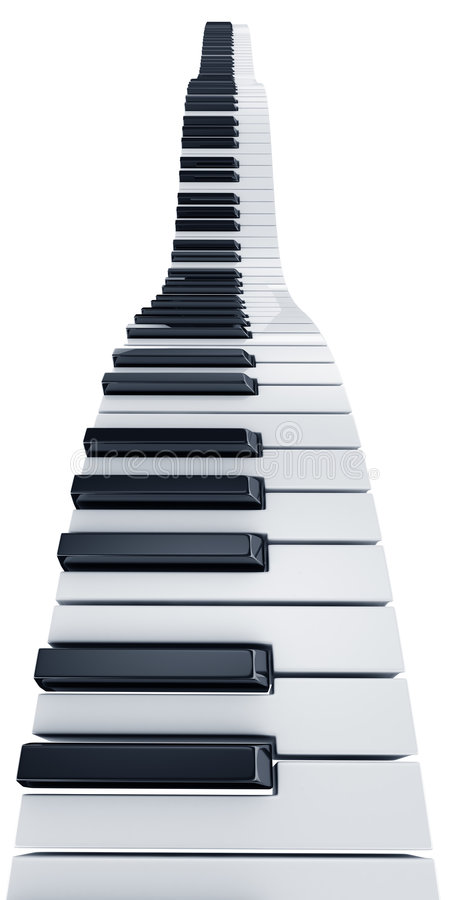 Download Piano keys stock illustration. Image of repetition, keyboard - 8925695