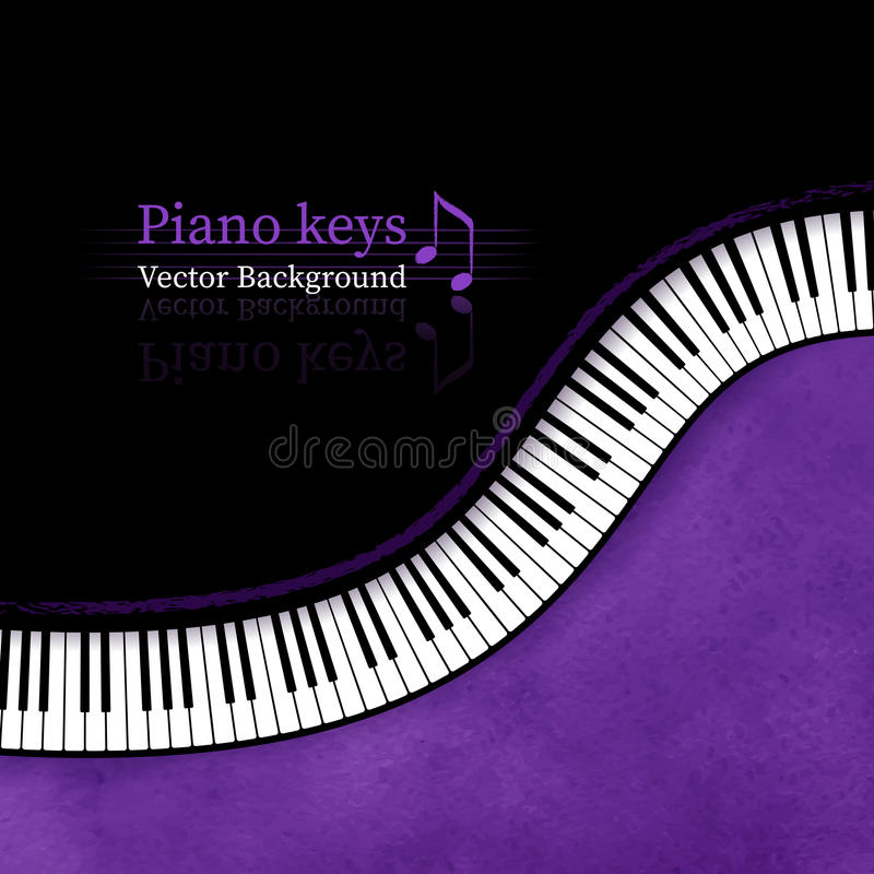 Piano keys background. Piano keys grunge vector background stock illustration