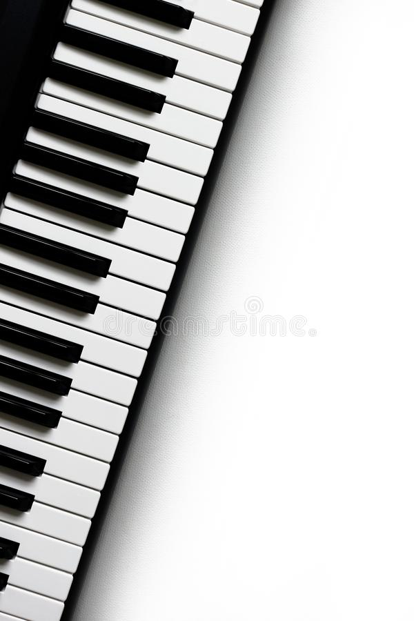 Piano Keys. Black and White Keyboard or Piano Keys royalty free stock photos