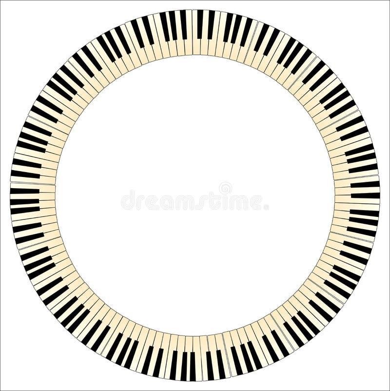 Piano Keys Circle stock illustration