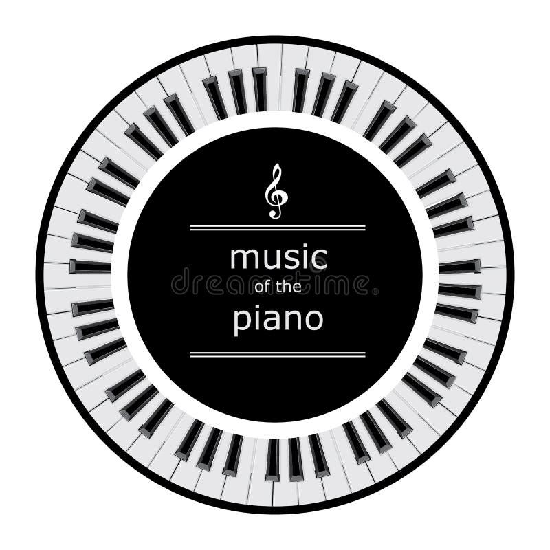 Piano keys in a circle stock illustration